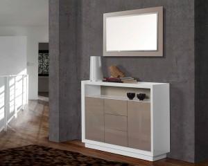Espejo horizontal con marco gris