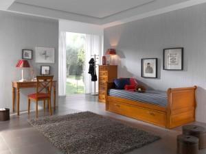 dormitorios juveniles clásicos madera Zaragoza