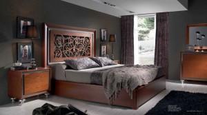 Dormitorio contemporáneo cabecero de madera Zaraogoza