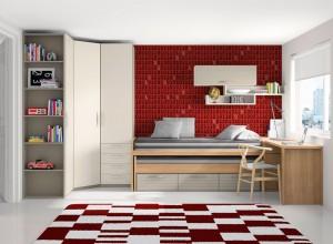 muebles juveniles en zaragoza blanco y rojo