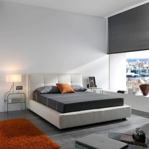 Dormitorio grisáceo moderno en ZAragoza
