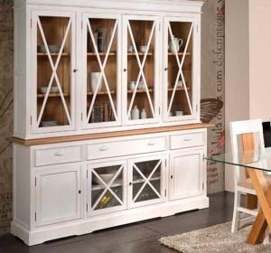 Mueble blanco estilo colonial