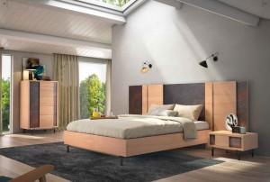 Cama alta dormitorio moderno en Zaragoza