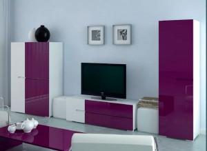 Como decorar un mueble de salón moderno