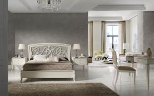 Dormitorio clásico blanco en Zaragoza