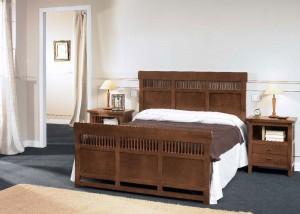 Dormitorio en Zaragoza colonial de madera