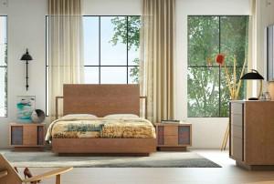 Manta primaveral en dormitorio moderno de Zaragoza