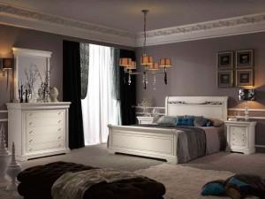 Dormitorio clásico romántico de Zaragoza