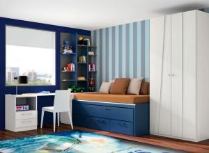 muebles juveniles azul oscuro