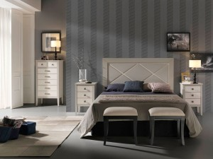 dormitorio gris colonial a medida Zaragoza