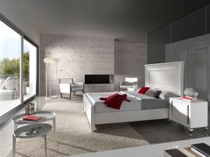 Dormitorio blanquecino contemporáneo Zaragoza