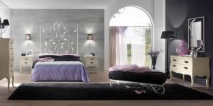 Cabecero grande de forja en dormitorio Zaragoza