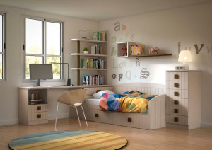Habitación madera juvenil Zaragoza