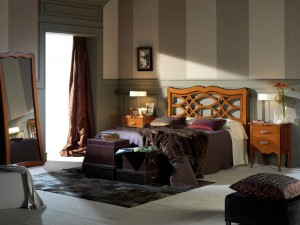 dormitorio clásico morado Zaragoza
