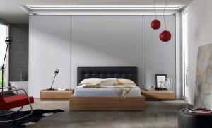 cabecero gris dormitorio moderno en Zaragoza