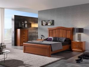 Dormitorio contemporáneo cabecero grande en Zaragoza