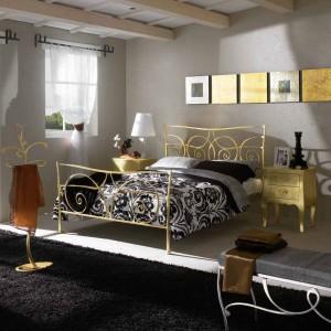 Cabecero de forja dorado dormitorio Zaragoza