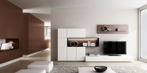 Muebles blanco comedor moderno Zaragoza