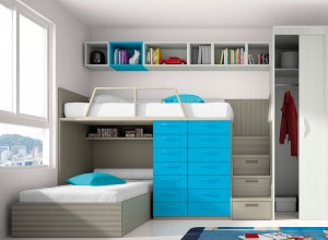 muebles juveniles en zaragoza azules literas