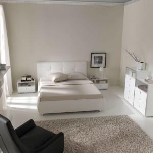 Blanco moderno dormitorio de Zaragoza