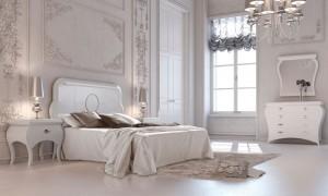 Blanco dormitorio clásico en Zaragoza