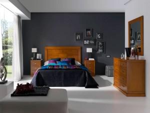 dormitorio oscuro colonial Zaragoza