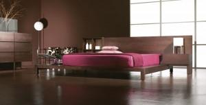 Dormitorio oscuro moderno en Zaragoza