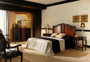 oscuro dormitorio clásico Zaragoza