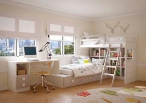 Dormitorio juvenil con dos alturas Zaragoza