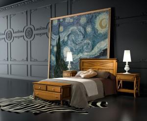 Dormitorio colonial madera a medida en Zaragoza