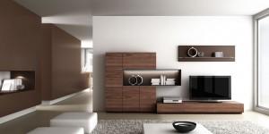 Mueble de madera de salón moderno