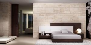 Dormitorio moderno marrón oscuro en Zaragoza