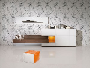 Mueble salón minimalista moderno