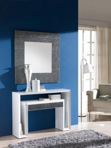 Espejo cuadrado con marco ancho