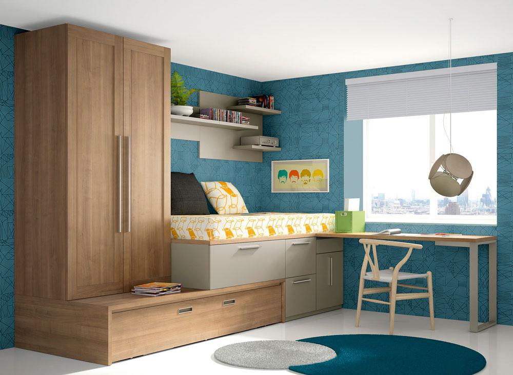 Dormitorios juveniles clasicos madera juego with - Dormitorios juveniles clasicos madera ...