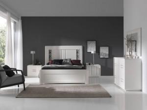 Dormitorio gris en Zaragoza moderno
