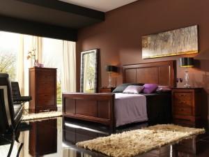 Tonos marrones dormitorio clásico en Zaragoza