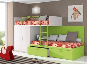 muebles juveniles en zaragoza literas verdes