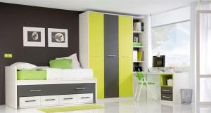 muebles juveniles en zaragoza verdes y grises melamina