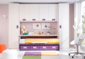 muebles juveniles en zaragoza blanco y morado melamina