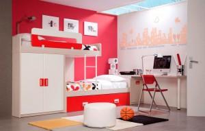 muebles juveniles en zaragoza rojos y blancos