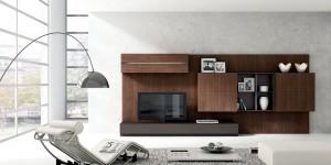 Muebles de salón de madera modernos