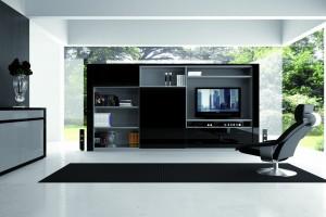 Salón moderno negro