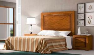 Dormitorio clásico pequeño madera Zaragoza
