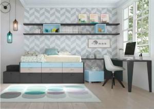 muebles juveniles en zaragoza color pastel melamina
