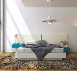 Dormitorio gris y blanco moderno en Zaragoza