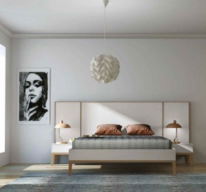 Dormitorio moderno Zaragoza cabecero color claro