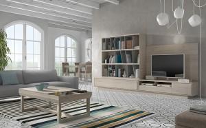 Muebles contemporáneos blancos
