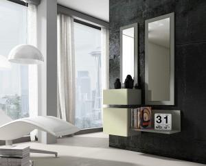 Espejos alargados con marco gris