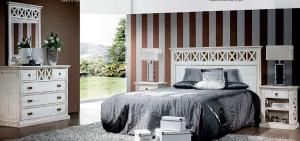 Dormitorio clásico tonos grises en Zaragoza
